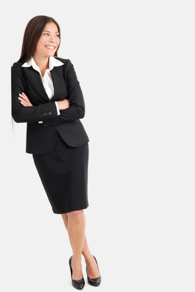 Business Woman in office suit
